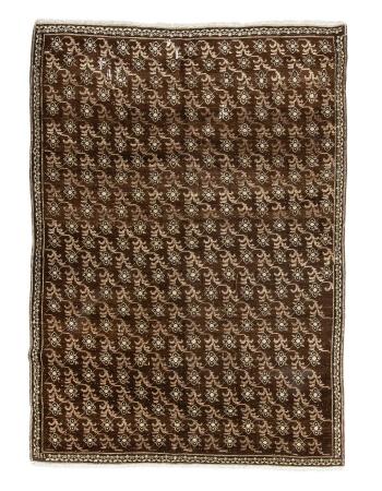 """Vintage Brown Turkish Kars Rug - 6`2"""" x 8`4"""""""