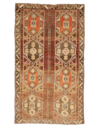 "Vintage Large Turkish Kars Rug - 6`9"" x 11`4"""