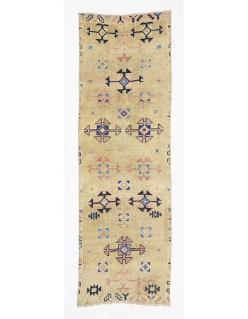 "Decorative  Vintage Herki Runner Rug - 2`11"" x 8`11"""