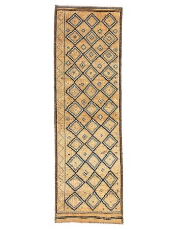 "Vintage Unique Decorative Herki Runner Rug - 3`0"" x 9`7"""