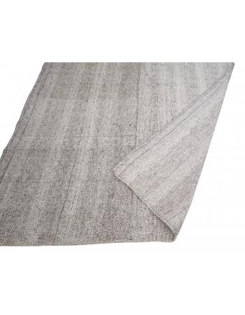 "Gray Vintage Modern Turkish Kilim Rug - 6`4"" x 9`0"""