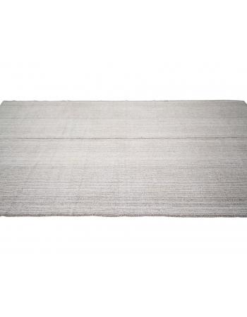"Gray Vintage Modern Turkish Kilim Rug - 6`3"" x 12`10"""
