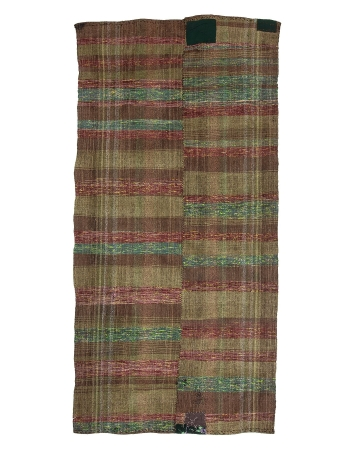 "Decorative Vintage Turkish Rag Rug - 5`10"" x 12`4"""