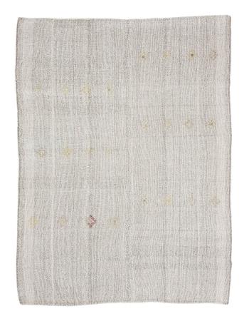 "Large Modern Gray Vintage Kilim Rug - 7`8"" x 10`6"""