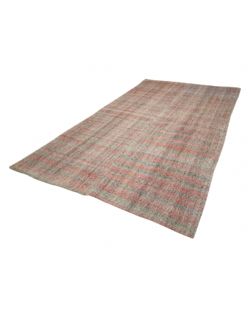"Striped Vintage Turkish Rag Rug - 6`8"" x 11`0"""