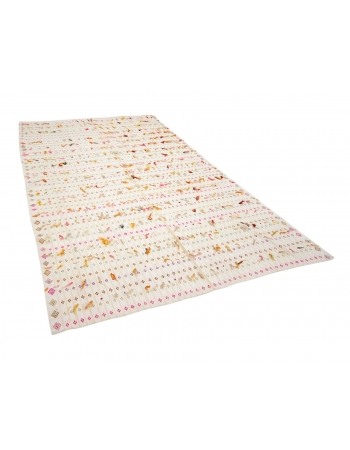 "Decorative Vintage Turkish Filikli Kilim - 6`4"" x 10`0"""