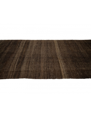 "Brown Vintage Turkish Kilim Rug - 6`0"" x 13`11"""