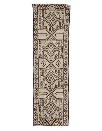"Unique Vintage Decorative Kilim Runner - 2`11"" x 10`6"""