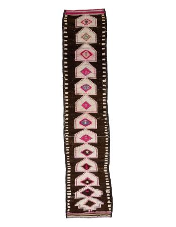 """Pink & Brown Vintage Herki Runner - 2`9"""" x 13`9"""""""