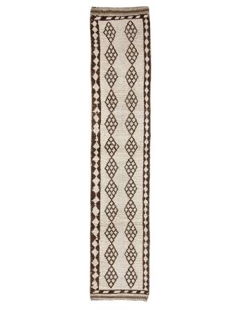 """Brown & Cream Vintage Runner Rug - 2`7"""" x 13`5"""""""