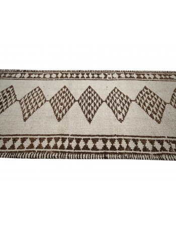 """Unique Vintage Neutral Herki Wool Runner - 2`11"""" x 14`5"""""""