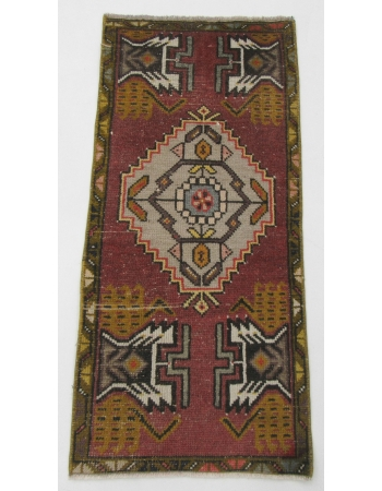 "Vintage Mini Turkish Rug - 1`8"" x 3`5"""
