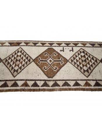 """Vintage Natural Herki Wool Runner - 2`10"""" x 12`0"""""""