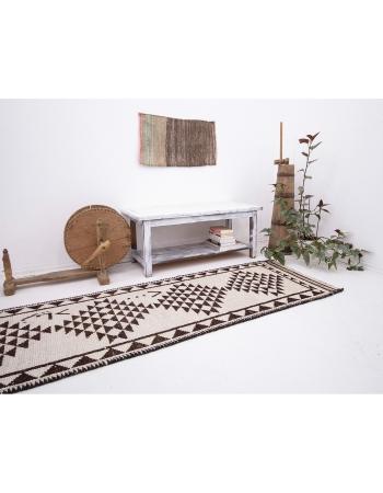 "Vintage Decorative Herki Runner Rug - 2`9"" x 12`2"""