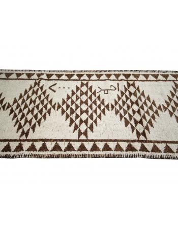 """Brown & Cream Vintage Wool Runner - 2`9"""" x 11`6"""""""