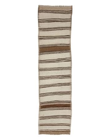 """Vintage Striped Natural Kilim Runner - 2`8"""" x 10`6"""""""