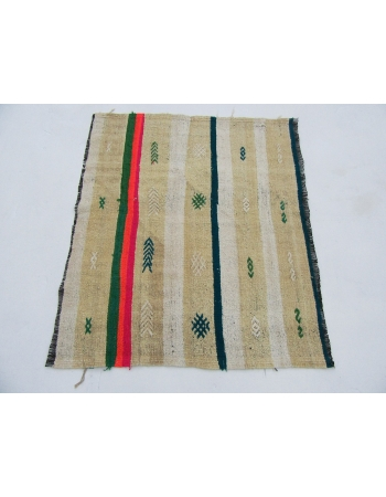 "Vintage Mini Turkish Kilim Rug - 2`9"" x 3`3"""