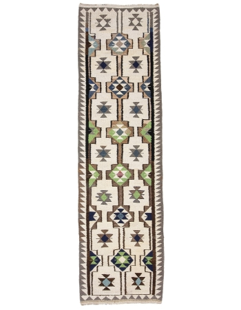 "Vintage Decorative Kilim Runner - 2`11"" x 10`11"""
