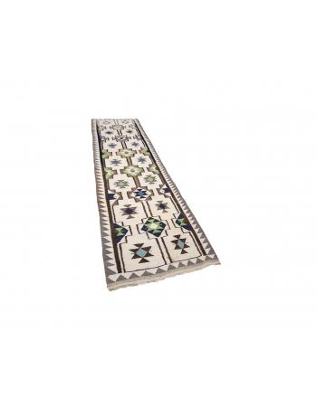 "Vintage Decorative Kilim Runner - 2`11"" x 10`11"""