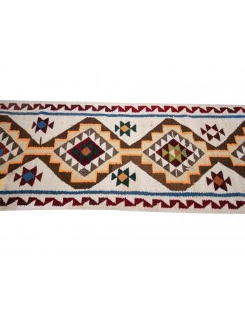 "Unique Decorative Vintage Kilim Runner - 3`1"" x 11`6"""