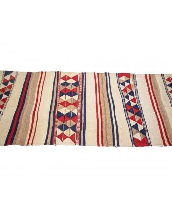 "Vintage Decorative Herki Kilim Runner - 2`10"" x 11`1"""