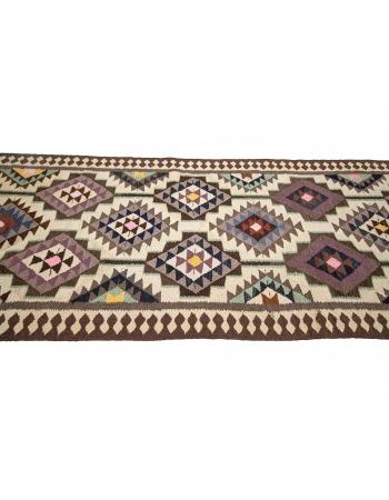 """Vintage Herki Wool Kilim Runner - 3`5"""" x 11`0"""""""