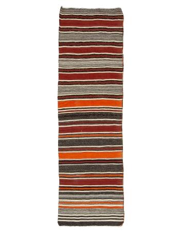 """Striped Vintage Turkish Kilim Runner - 3`3"""" x 10`5"""""""