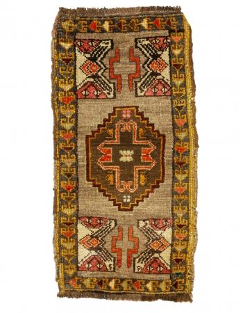 "Vintage Mini Unique Turkish Rug - 1`8"" x 3`4"""