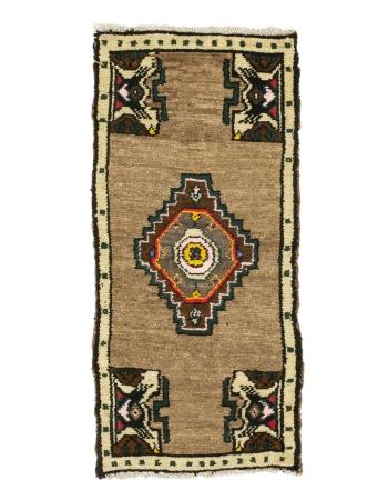 """Vintage Mini Turkish Wool Rug - 1`6"""" x 3`1"""""""