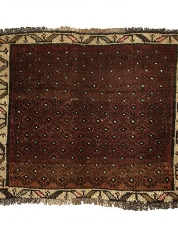 """Vintage Mini Wool Rug - 1`10"""" x 2`2"""""""