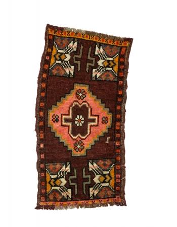 """Vintage Mini Turkish Wool Rug - 1`7"""" x 3`2"""""""