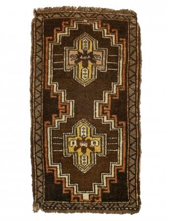 """Vintage Mini Turkish Wool Rug - 1`9"""" x 3`1"""""""