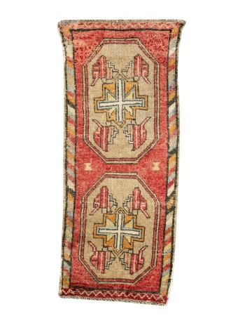"""Washed Out Mini Turkish Rug - 1`9"""" x 4`1"""""""