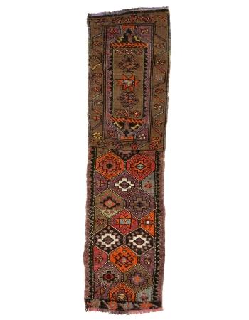 "Vintage Decorative Mini Turkish Runner Rug - 1`10"" x 6`9"""