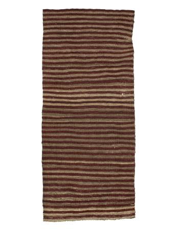 "Striped Vintage Mini Kilim Rug - 1`8"" x 3`11"""