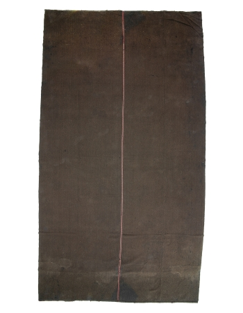 "Oversized Vintage Brown Kilim Rug - 13`1"" x 23`9"""