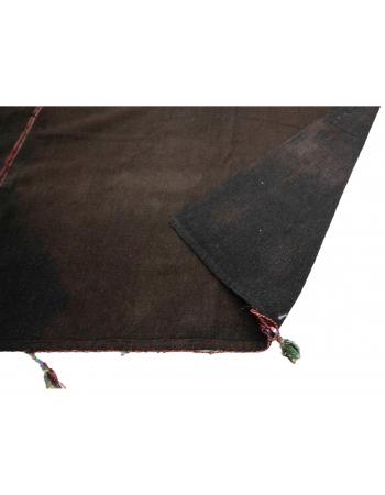 "Oversized Vintage Brown Kilim Rug - 13`1"" x 23`9"""