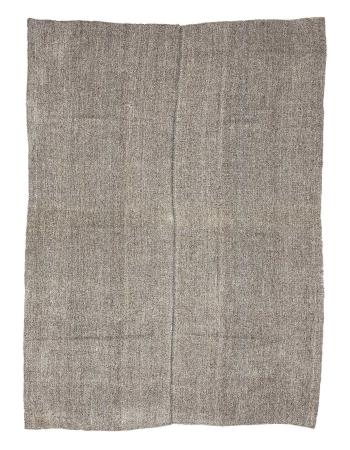 "Gray Vintage Modern Kilim Rug - 7`4"" x 10`0"""