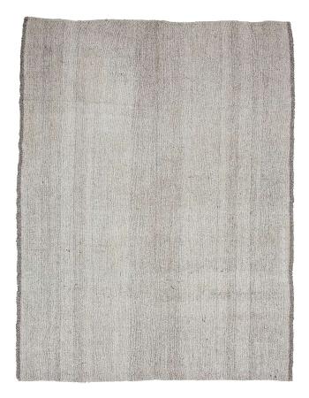 "Large Vintage Gray Modern Turkish Kilim Rug - 7`10"" x 10`0"""