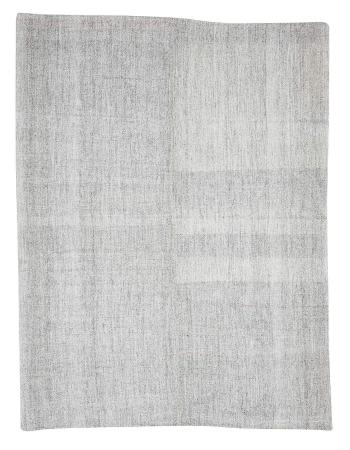 """Gray Large Vintage Turkish Kilim Rug - 8`2"""" x 10`4"""""""