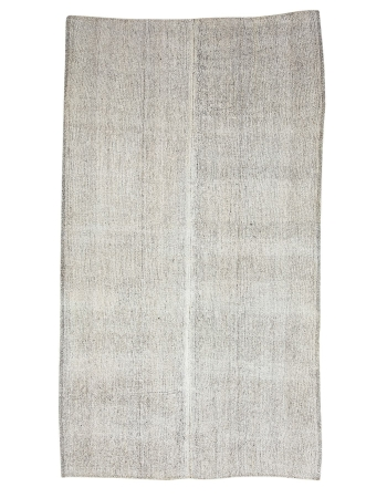 "Gray Vintage Large Kilim Rug - 7`1"" x 12`6"""