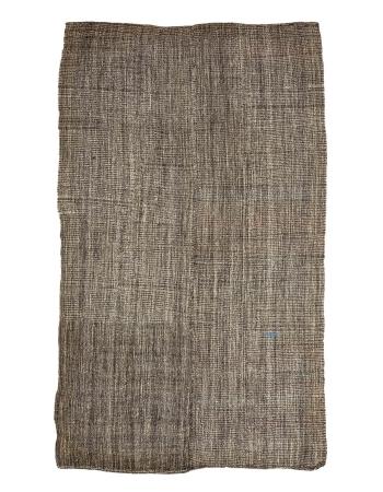 """Vintage Brown & Gray Modern Kilim Rug - 6`5"""" x 11`2"""""""