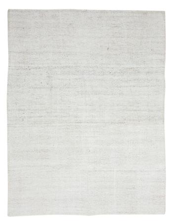 """Vintage White Cotton Kilim Rug - 6`9"""" x 8`11"""""""