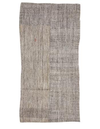 """Gray & Brown Modern Vintage Kilim Rug - 5`6"""" x 11`3"""""""