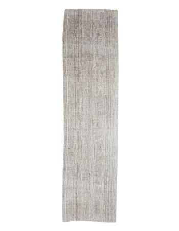 "Gray Vintage Modern Kilim Runner - 2`10"" x 11`1"""
