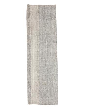 "Gray Vintage Kilim Runner - 2`7"" x 8`4"""