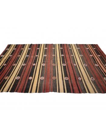 """Red & Yellow & Black Vintage Kilim Rug - 6`3"""" x 11`3"""""""