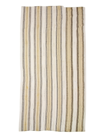 "Vertical Striped Oversized Turkish Kilim Rug - 9`4"" x 17`3"""