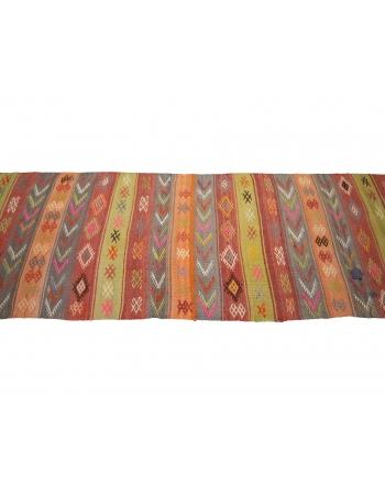 "Decorative Colorful Vintage Kilim Runner - 2`4"" x 11`4"""
