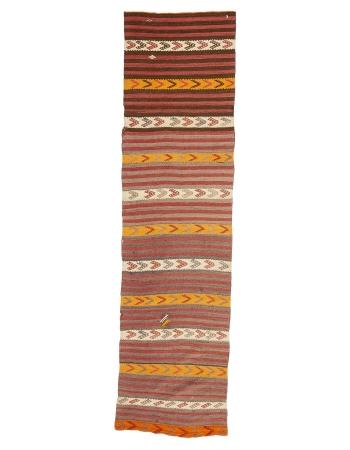 """Striped Vintage Turkish Kilim Runner - 2`6"""" x 9`7"""""""